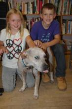 Owen and his sister Hannah made a special trip to meet Neville!
